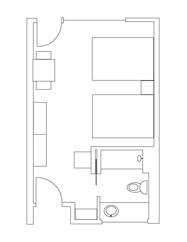 Floor Plan Superior Room 2 Queen